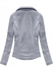 Dámska semišová bunda s kožúškom 6502BIG, fialová #3