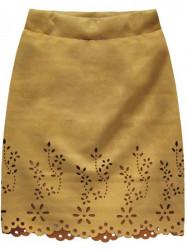 Dámska semišová sukňa 3070, žltá
