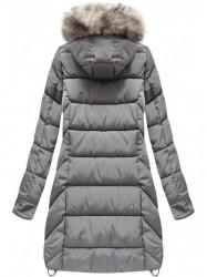 Dámska sivá zimná bunda W737