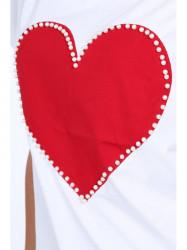 Dámska tunika s červeným srdcom 39820