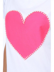 Dámska tunika s ružovým srdcom 39820