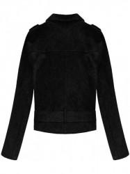 Dámska zamatová bunda 3Y125, čierna #1