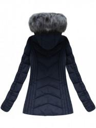 Dámska zimná bunda 21755, tmavo modrá