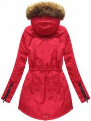 Dámska zimná bunda 7308, červená