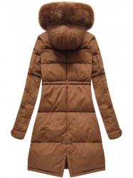 Dámska zimná bunda 7752BIG, hnedá