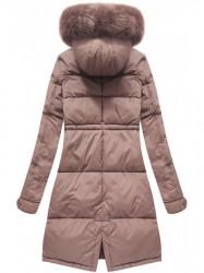 Dámska zimná bunda 7752BIG, staroružová