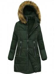 Dámska zimná bunda B2627 zelená