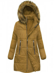 Dámska zimná bunda B2627 žltá