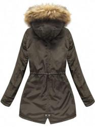 Dámska zimná bunda s kapucňou 7312, army