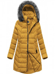 Dámska zimná bunda s kapucňou B2646 žltá