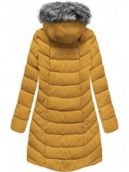 Dámska zimná bunda s kapucňou B2646 žltá #1