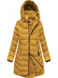 Dámska zimná bunda s kapucňou B2646 žltá #2