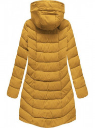 Dámska zimná bunda s kapucňou B2646 žltá #3