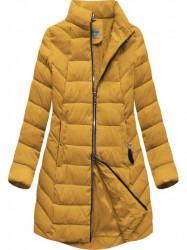 Dámska zimná bunda s kapucňou B2646 žltá #4