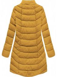 Dámska zimná bunda s kapucňou B2646 žltá #5