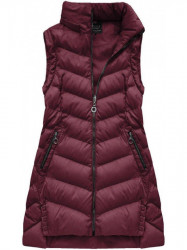 Dámska zimná bunda s odopínateľnými rukávmi W761BIG, bordová