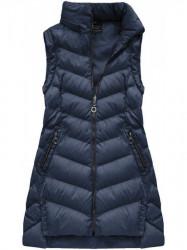 Dámska zimná bunda s odopínateľnými rukávmi W761BIG, modrá