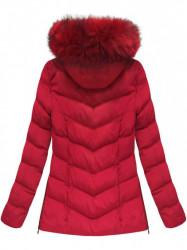Dámska zimná bunda W583, červená