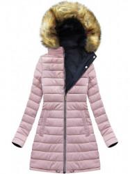 Dámska zimná obojstranná bunda W213BIG, modrá/ružová