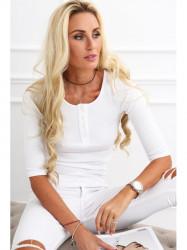 Dámske 3/4 tričko 20860, biele #1