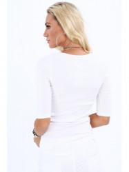 Dámske 3/4 tričko 20860, biele #2