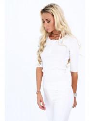 Dámske 3/4 tričko 20860, biele #3