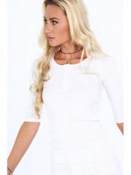 Dámske 3/4 tričko 20860, biele #4