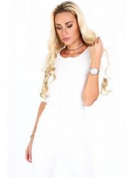 Dámske 3/4 tričko 20860, biele #5