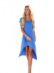 Dámske asymetrické modré šaty 9865