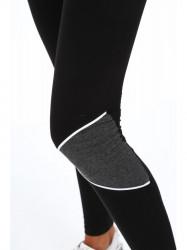 Dámske bavlnené legíny 95700, čierne/tmavo sivé #3