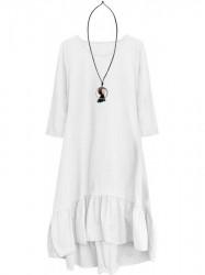Dámske bavlnené oversized šaty 299ART, biele