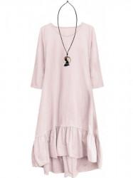 Dámske bavlnené oversized šaty 299ART, ružové