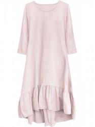 Dámske bavlnené oversized šaty 299ART, ružové #1