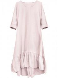 Dámske bavlnené oversized šaty 299ART, ružové #2