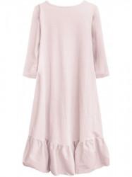 Dámske bavlnené oversized šaty 299ART, ružové #3