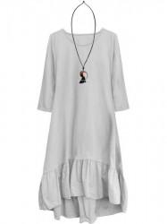 Dámske bavlnené oversized šaty 299ART, sivé
