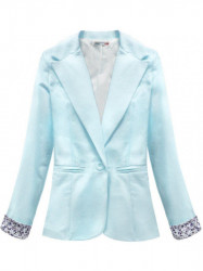 Dámske bavlnené sako 6097, modré