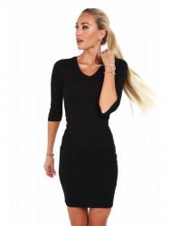 Dámske bavlnené šaty 2093, čierne