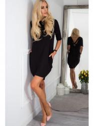 Dámske bavlnené šaty 3380, čierne
