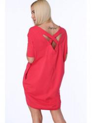Dámske bavlnené šaty 3380, korálové