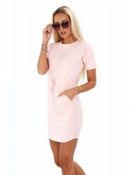 Dámske bavlnené šaty 4191, ružové
