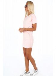 Dámske bavlnené šaty 4191, ružové #3