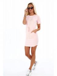 Dámske bavlnené šaty 4191, ružové #4