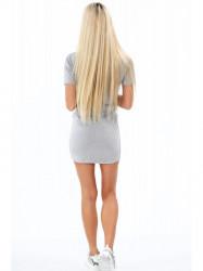 Dámske bavlnené šaty 4191, sivé #1