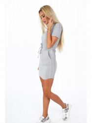 Dámske bavlnené šaty 4191, sivé #3