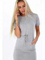 Dámske bavlnené šaty 4191, sivé #4