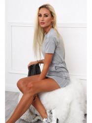 Dámske bavlnené šaty 4191, sivé #5
