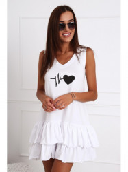 Dámske biele šaty 4361