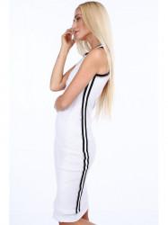 Dámske biele šaty so sieťkou 3967