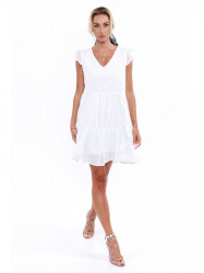 Dámske boho šaty 8345, biele